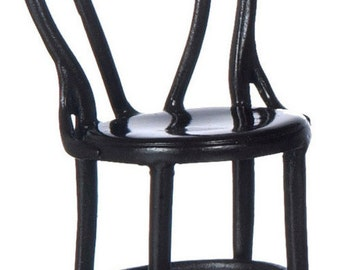 Dollhouse Miniatures 1:12 Scale CAFE Chairs Set #A2895BR-WA2895BR-WA2895WH