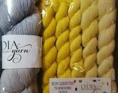 Mr. Pinkerson Shawl Kits!. 400 Yards MCN Yarn plus 400 yards gradient accent sock yarn