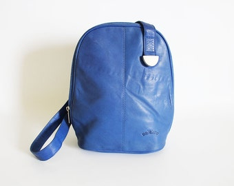 Vintage • Leather Bag • Shoulderbag • Blue Leather Bag • Blue Shoulderbag • Leather Handbag • Blue Bag • Leather Purse • Blue Purse • Chunky