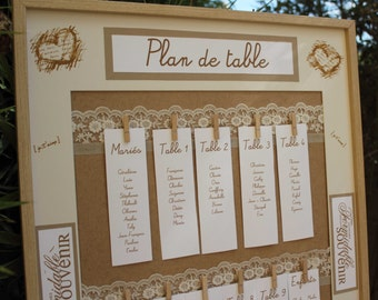 Plan De Table 50 X 70 Cm Mariage Rouge Passion