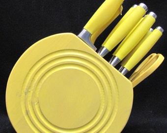 Fiesta 11-Piece Kitchen Knife Cutlery Set Sunflower with Block