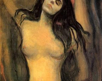 Edvard Munch: Madonna. Fine Art Print/Poster (00877)