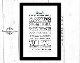 Full House - TV Series - Typography - Quotes & Words - PRINT