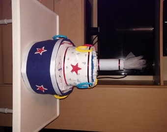 Boat Diaper  Cake Any color