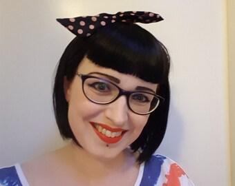 Custom wig, (black) bobline with Bettie Bangs, bettie page bangs.