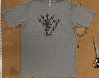 Person the Band Microphone T-Shirt