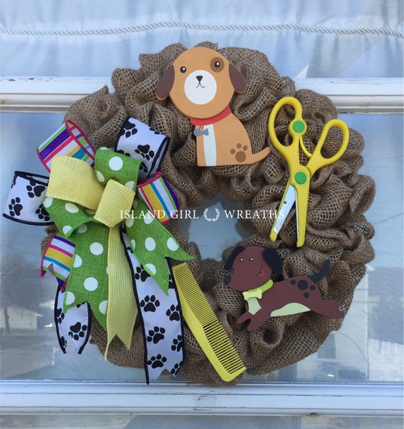 Dog Groomer Wreath Decoration