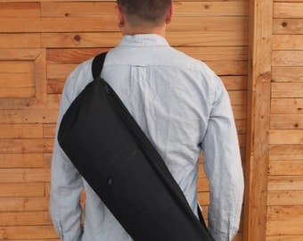 Yoga mat bag, men, women, zipper, pocket (black with black zipper) Urban Series
