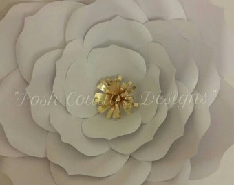 Giant Paper Rose/ Giant Flower/ Giant Flower Template/ Giant Rose Diy Kit/ Wedding Backdrop/ Bridal Backdrop/ Office Decor/ Nursery Decor