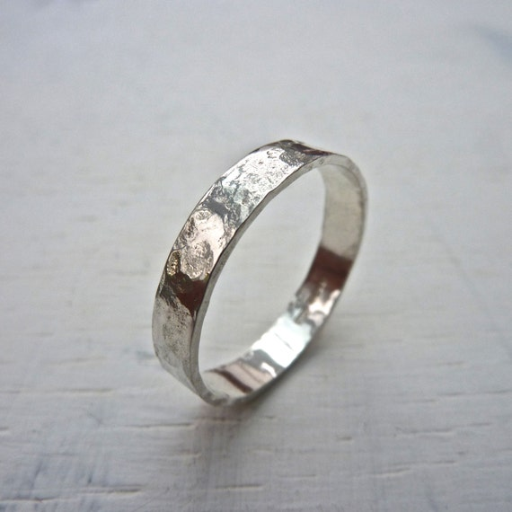 sterling silver rustic ring sterling silver ring by