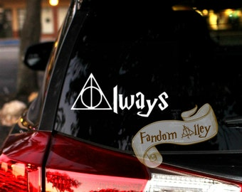 Deathly Hallows Always Decal - Harry Potter Inspired Vinyl Sticker - Deathly Hallows Always Laptop Sticker or Car Window Vinyl Decal Sticker