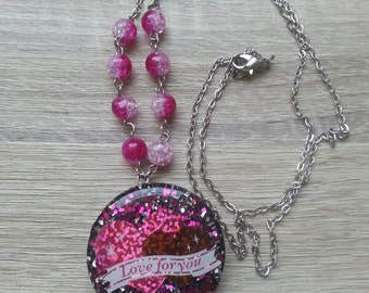 Love For You Resin Necklace