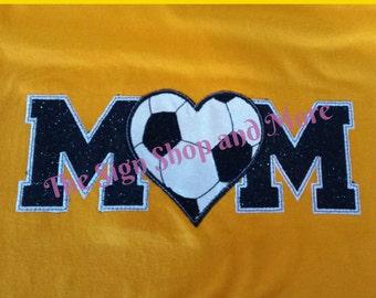 Custom Embroidery Soccer Mom Tshirt