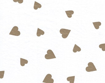 "Gold HEART Tissue Paper # 267 - 50th Anniversary, Wedding, Birthday, Love - 10 large sheets - 20"" x 30"""