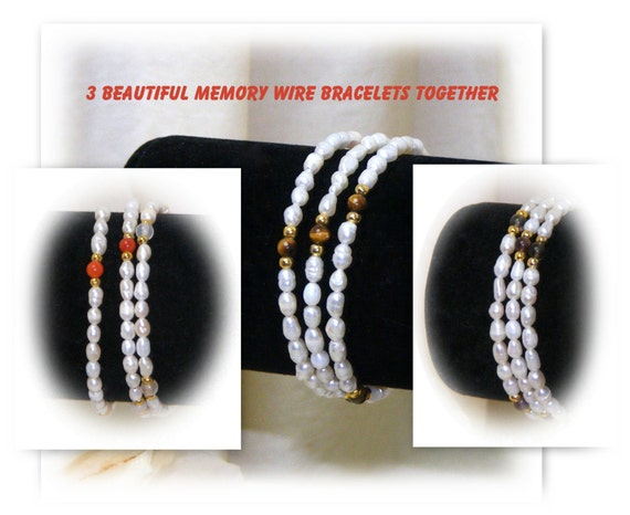 MEMORY WIRE BRACELETS  (All 3 Together)