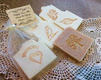 30 Bridal Shower Soap Favors, Wedding Shower Favors, Baby Shower Soap Favors - 30 custom favors with Raffia Tie