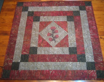 Quilted Batik Table Topper