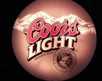 Vintage coors light sign etsy coors light and coors lighted bar sign coors brewing co double lighted sign bar mancave aloadofball Images