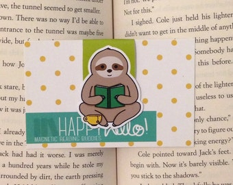 Magnetic Bookmarks • Sloth Day