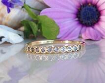 20% off-SALE!! Aquamarine Ring - March Birthstone - Tiny Ring - Stacking Ring - Gemstone Ring - Simple Ring - Slim Ring - Sea Foam Ring