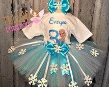 Frozen Tutus,Elsa Birthday Outfit,Disney Clothing,Disney Frozen Clothing,Frozen Birthday,Frozen Tutu,Frozen Birthday Tutu,Elsa Tutu,Elsa
