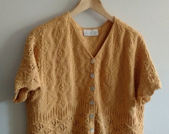 Knit Mustard Crop Sweater