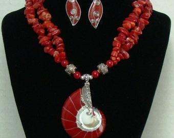 Ocean Silver Shell Pendant Necklace.