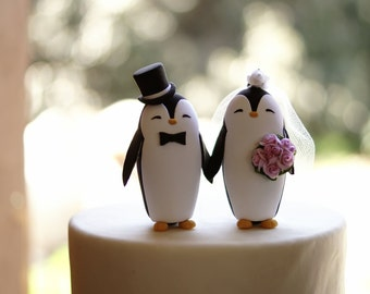 PENGUIN Wedding Cake Topper - Warranty Protection Included