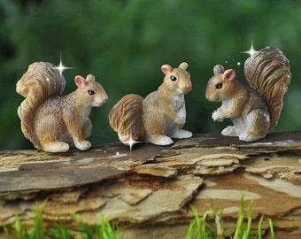 fairy garden squirrel, miniature squirrel, miniature garden squirrels, terrarium squirrel, fairy animals, fairy garden accessories