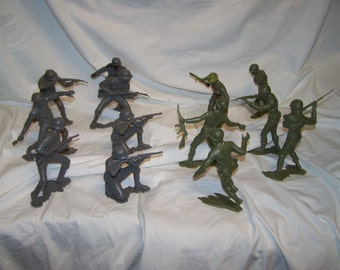 """1960'S LOUIS MARX Soldiers German USA 6"""" tall rare"""