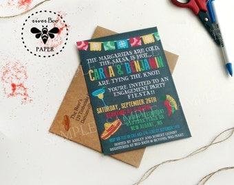 25 Fiesta Shower Invitations PRINTED