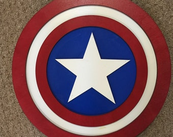 """14"""" Kids Costume Size Captain America Shield  w/ optional backpack straps"""