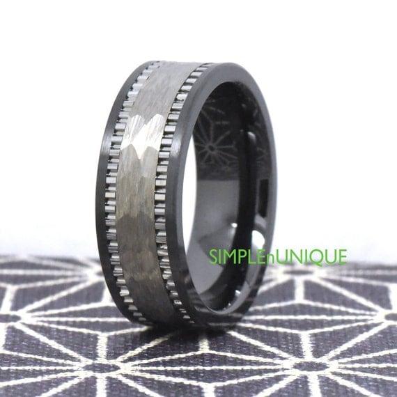 promise ring for him unique promise ring black ceramic