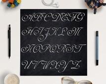 Chalkboard Alphabet, Chalkboard Letters, Chalkboard Font Clipart, Coupon Code: BUY5FOR8