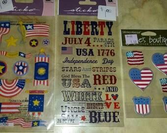 Patriotic sticker lot