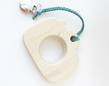Wooden Teether Camera- Maple Teether/Toy- All Natural- Wood Toy- Free Teether Clip