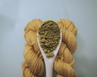 Light Matcha Tea - Mini skein. Natural dyeing. Handdyed yarn.