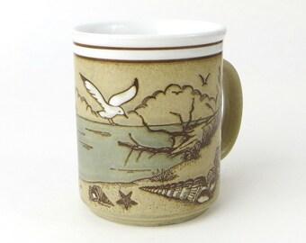 Vintage Embossed Seashore Mug