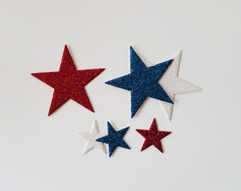 Glitter Star Die Cuts in Variety of Holiday Colors