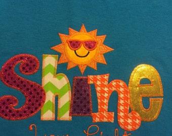 Shine Your Light Applique Blingy T-Shirt