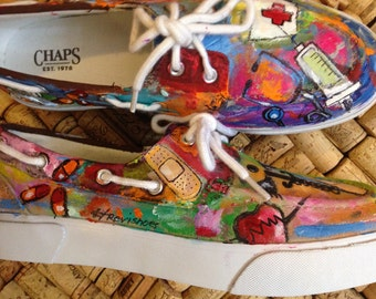 Custom Hand Painted Nurse Healthcare RN TOMS Shoes   Nurse shoes   healthcare   nurse toms   rn   nurses   nurses save lives   custom toms