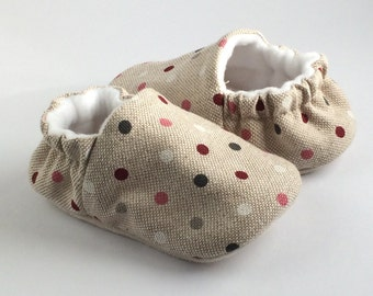 linen soft sole pre walker baby shoes