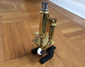 Beautiful ca 1898 Spencer Brass Microscope