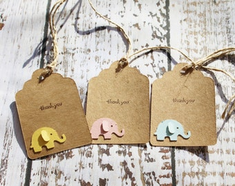 Gift tags for babies, thank you gift tags for baby shower, thank you gift tags for babies first birthday, baby elephants