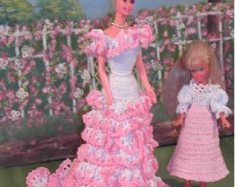 Crochet Fashion Doll Barbie & Stacie Pattern- #144 MOTHERS LOVE #1