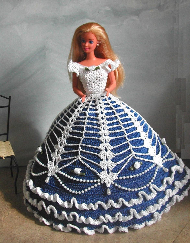 Crochet Fashion Doll Barbie Pattern 584 Cotillion Ball Gown