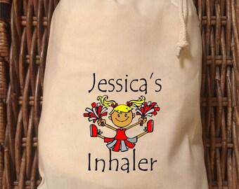 Personalised Inhaler Bag - Jessica Cheerleader Design