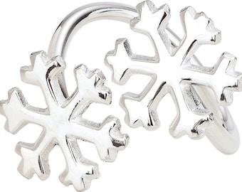 Napkin Rings - Snowflakes - Set of 10 (Silver)