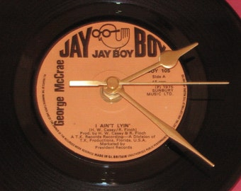 "George McCrae i ain't lyin'   7"" vinyl record clock"