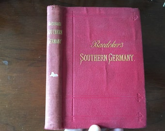 1895 Southern Germany Baedeker Illustrated Maps